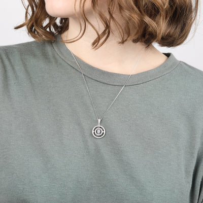 Paloma Sterling Silver Circle Necklace