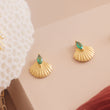 Pamela Gold Shell Earrings