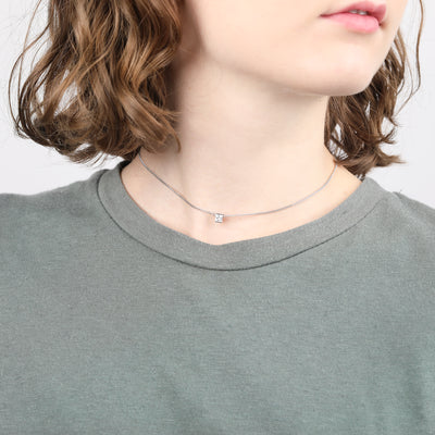 Portia Sterling Silver Short Choker Necklace