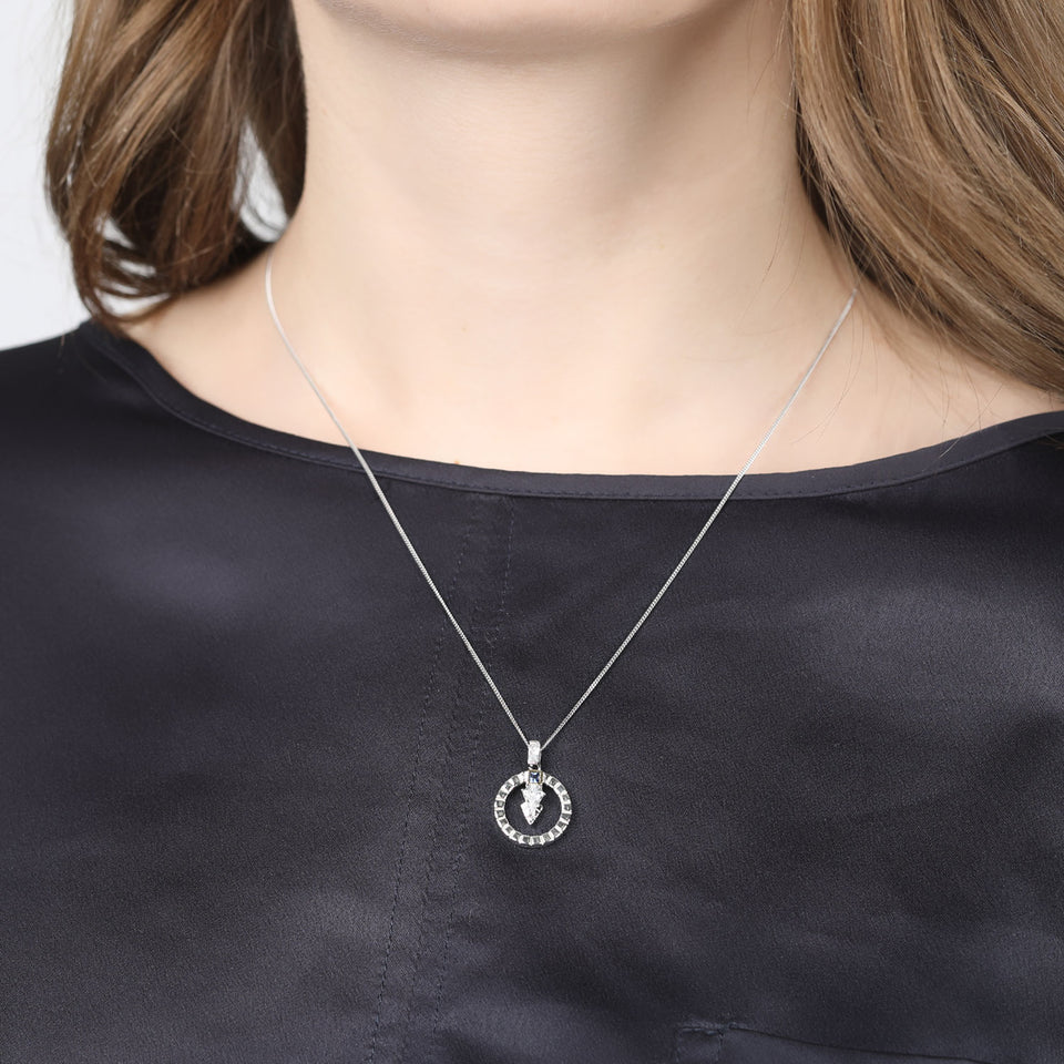 Thea Sterling Silver Necklace in Blue