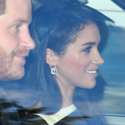 Meghan Markle V by Laura Vann Daphne earrings