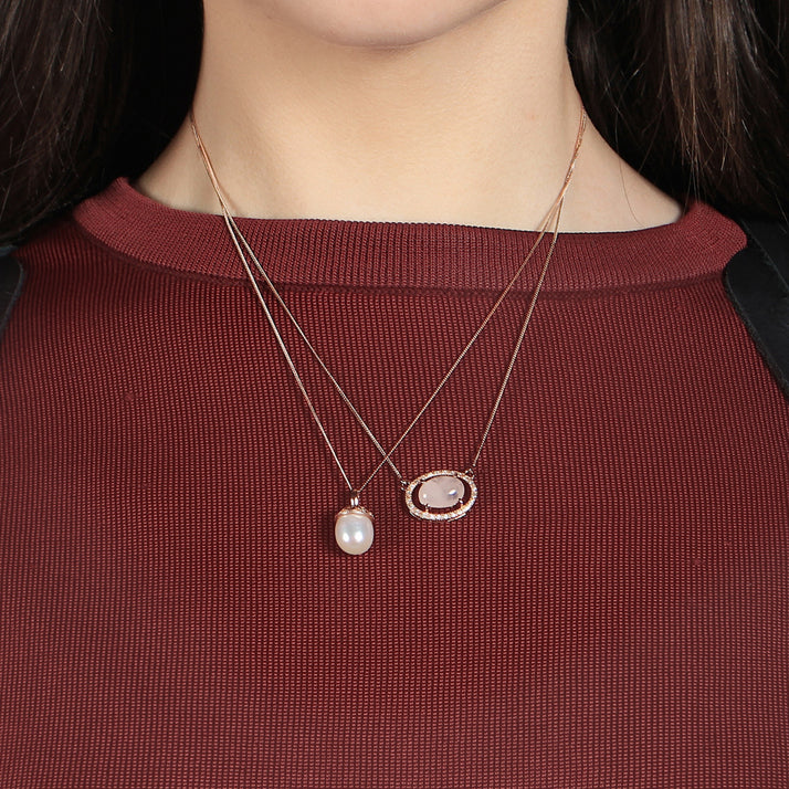 Oval Quartz Necklace
