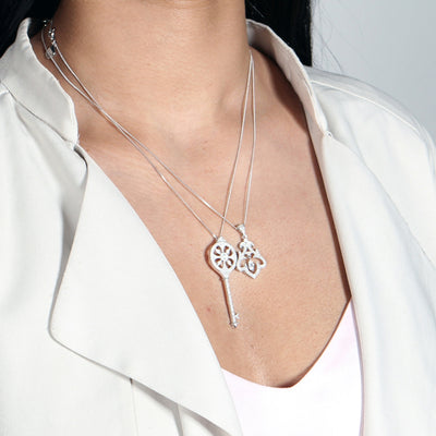 Rai Sterling Silver Drop Pendant