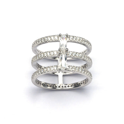 Triple Spine ring