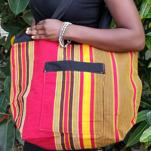 Reversable Tote Bag - Kikooyi Print - Village of Hope - Tabitha Artisans