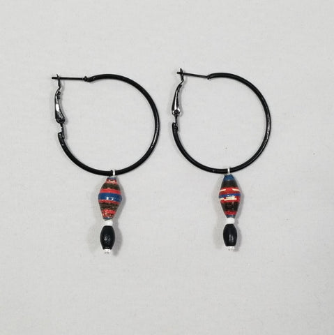 Black and red hoops - Village of Hope - Tabitha Artisans