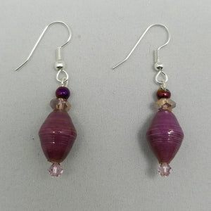 Plum Purple Earrings - Village of Hope - Tabitha Artisans