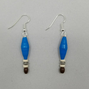 Blue and Brown Earrings - Village of Hope - Tabitha Artisans
