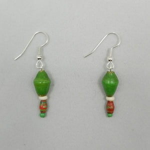 Green Earrings - Village of Hope - Tabitha Artisans