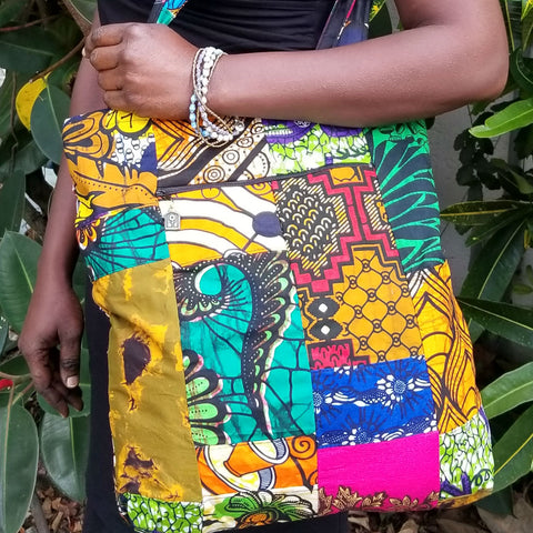 Zippered Totebag - Kitenge Patchwork - Village of Hope - Tabitha Artisans