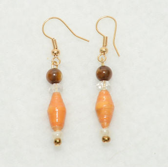 Tan and Beige Earrings - Village of Hope - Tabitha Artisans