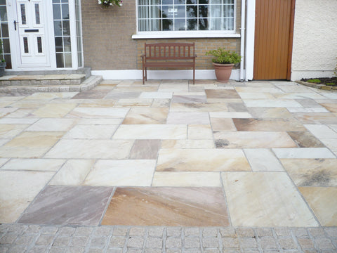 Tinted Mint Sandstone Paving
