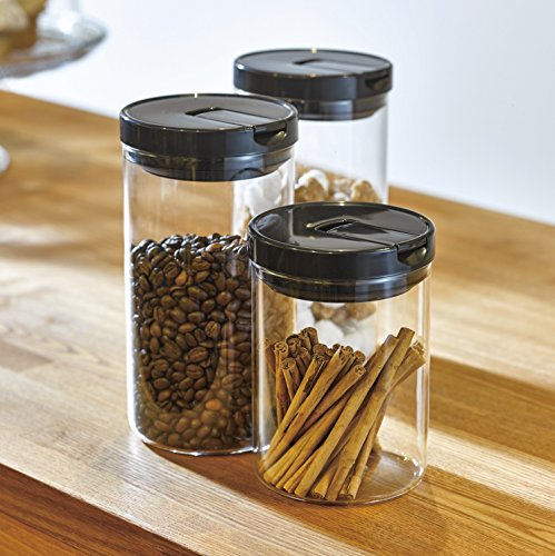 Hario Glass Canister 800ml black