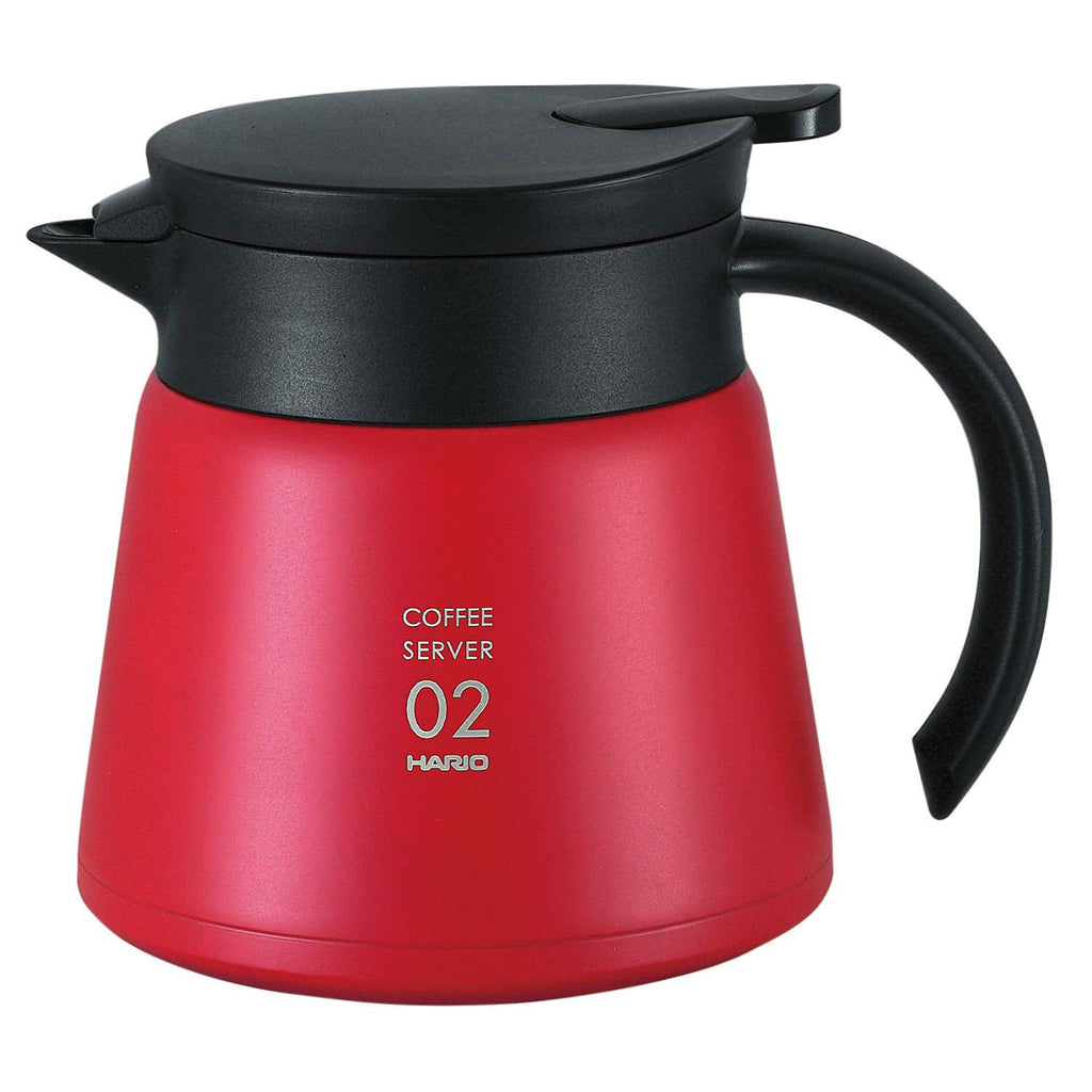 Hario V60 Insulated Stainless Steel Server 600 red