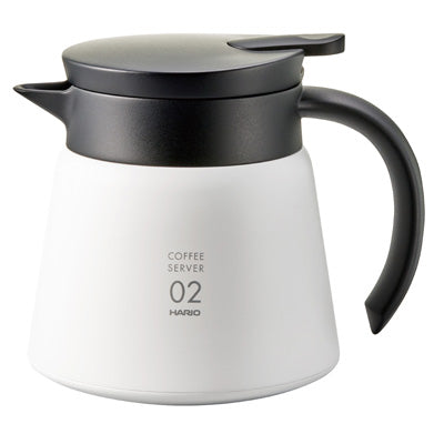 Hario V60 insulated stainless steel server 600 white