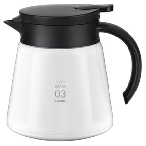Hario V60 Insulated Stainless Steel Server 800 white