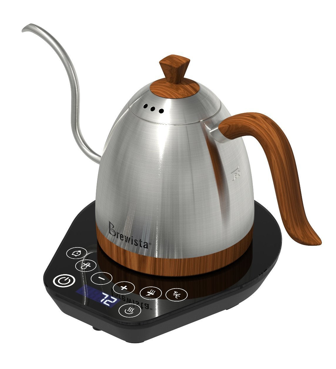 Brewista Artisan 600ml Gooseneck Variable Temperature Kettle - Stainless Steel