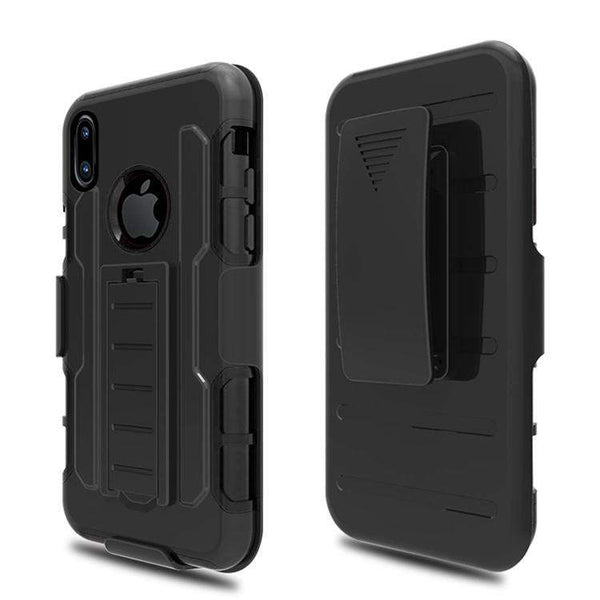 iPhone X Robot Shokproof Dual Layer Holster Clip Case - Boltrer