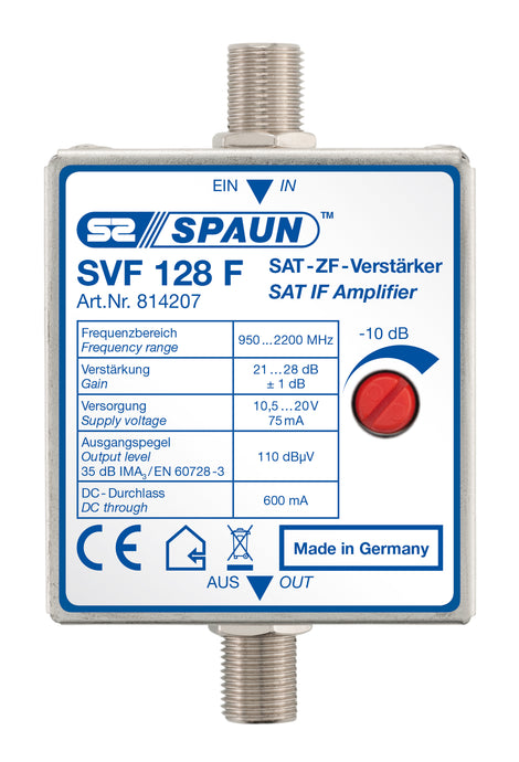 Spaun-SVF128F-Remote-Powered-Inline-Amplifier-vivid-clear-solutions