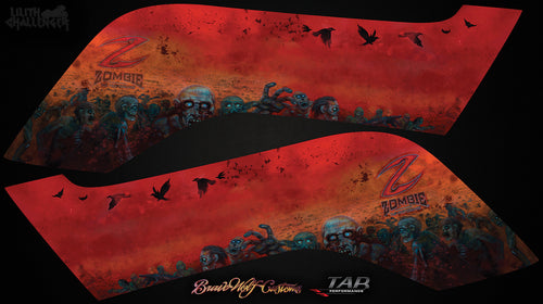 TAB Performance Zombie Saddlebag Decals for Challenger