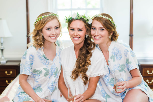 Pajama Set Spotlight: Blue Hydrangea Edition