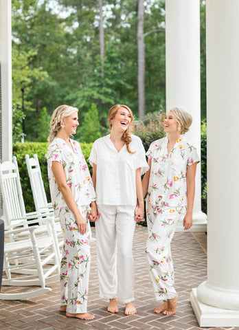 Poppy & Co. - pajama set - bridal party pajama set - bridesmaids gifts - bridesmaid pajama set