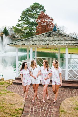 Poppy & Co. - Pajama Set - Bridesmaids Gifts - Loungewear - Wedding Day Loungewear - Bridal Party Loungewear