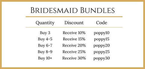 Poppy & Co. - Bridesmaid Bundle