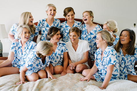 bridesmaids gifts - The Poppy Shop - pajama set - wedding day