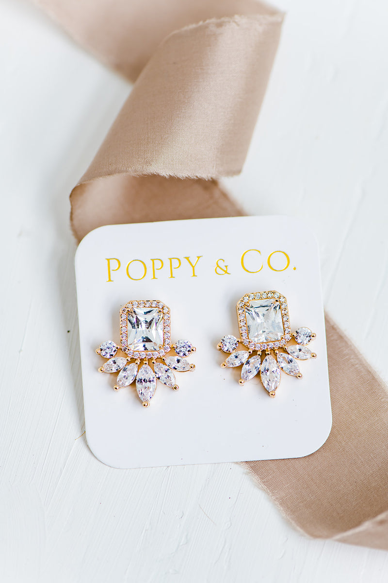 Poppy & Co. - Earrings - Bridesmaids Gifts - Bridesmaid Earring - Wedding Day Earring - Bridal Party Earrings