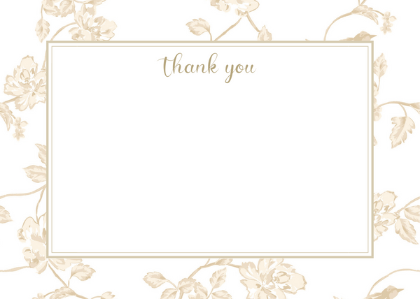 Botanical Champagne Thank You Card