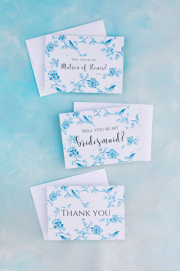 Poppy & Co. - Bridesmaid Proposal Card - Bridesmaid Gift - Bridesmaid Proposal - Wedding Day Thank You Card - Bridal Party Thank You Card