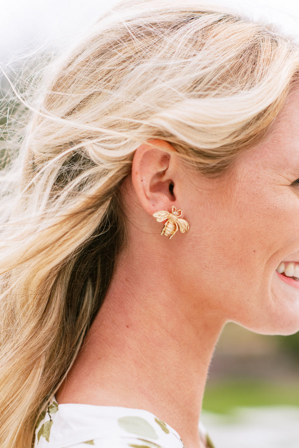 Poppy & Co. - Statement Earrings - Bee Studs