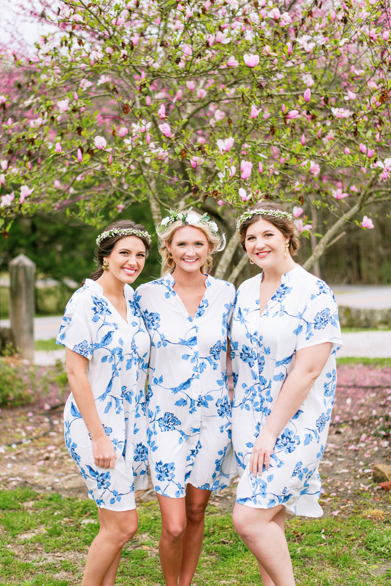 Poppy & Co. - Nightshirt - Bridesmaids Gifts - Loungewear - Wedding Day Loungewear - Bridal Party Loungewear