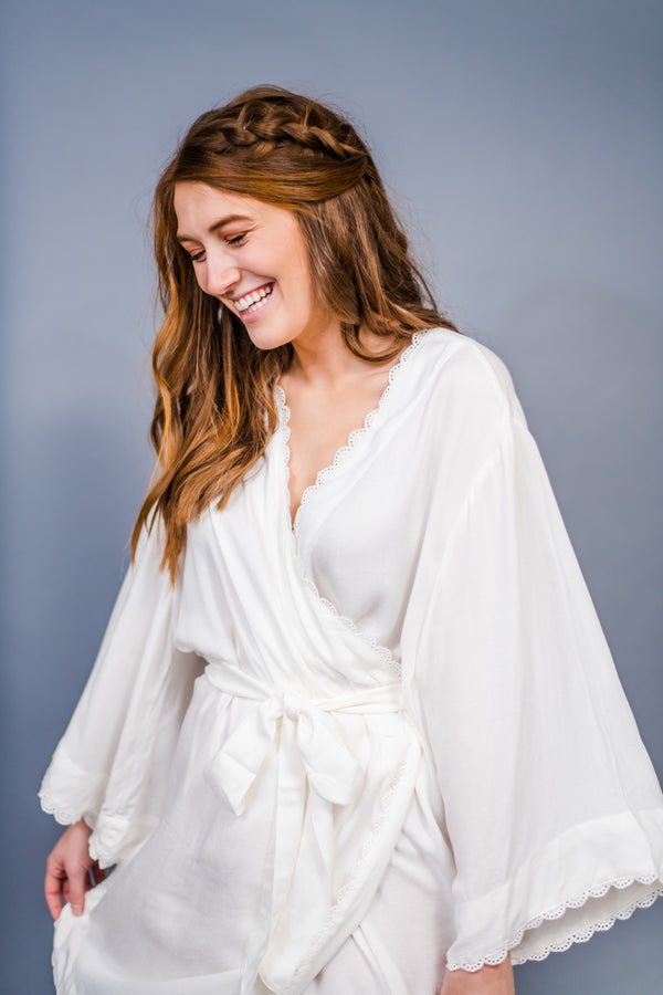Poppy & Co. - Robe - Bridesmaids Gifts - Loungewear - Wedding Day Loungewear - Bridal Party Loungewear