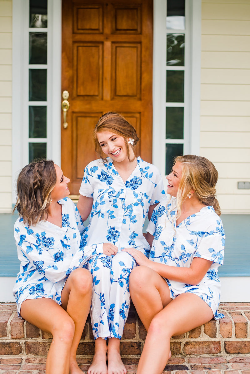 PRE-ORDER Botanical Blue Pajama Set - Pants