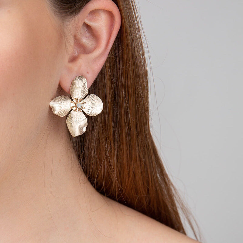 Annie Post Earrings- Gold