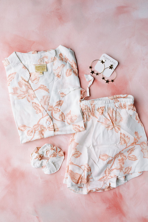 Botanical Blush Pajama Set