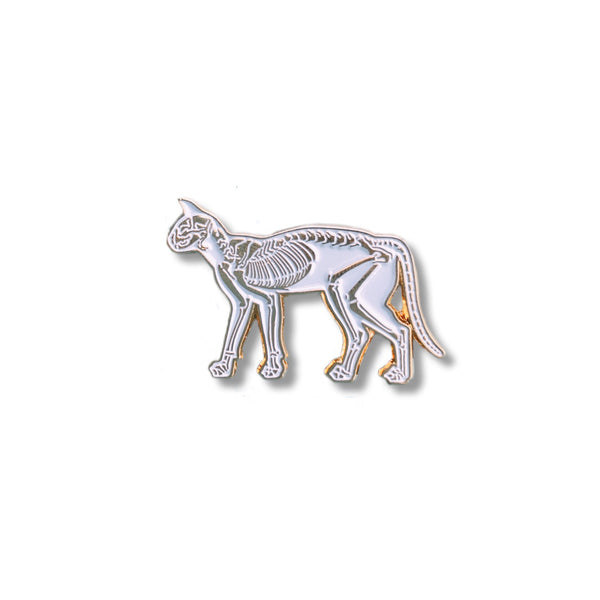 Skeletal Cat Pin - NINELIVES