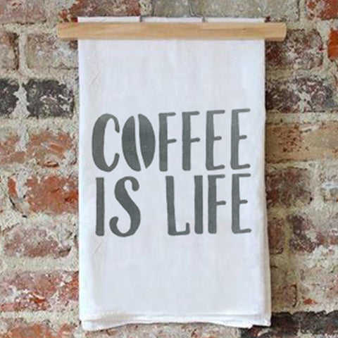 Tea Towel – Coffee is Life – Black Pearl