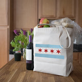 Canvas Market Tote – Chicago Flag