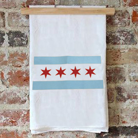 Tea Towel – Chicago Flag