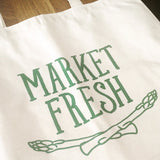 Canvas Market Tote – Market Fresh – Emerald