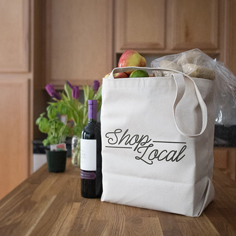 Canvas Market Tote – Shop Local – Black Pearl