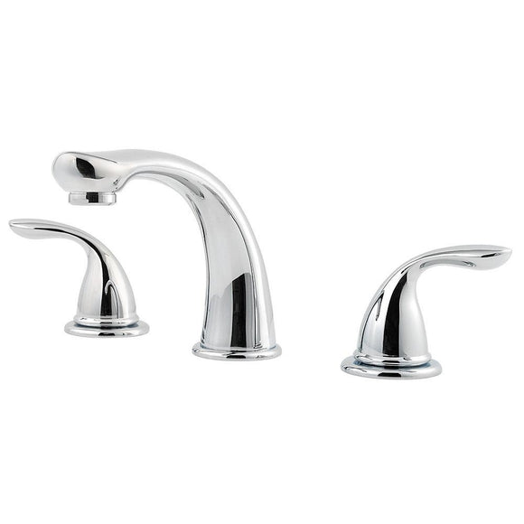 Pfister 1T6-5100 Pfirst Double Handle Complete Roman Tub Trim in Polished Chrome