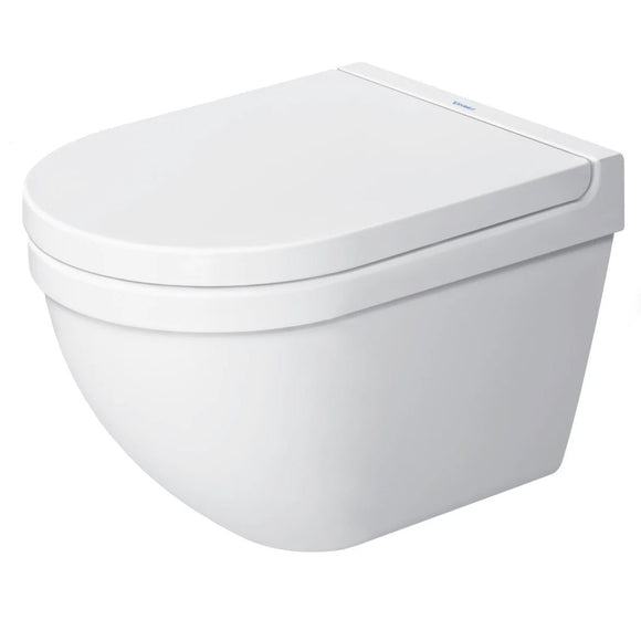 Duravit Starck 3 Dual Flush One-Piece Wall Mounted Compact Elongated Toilet in White Finish
