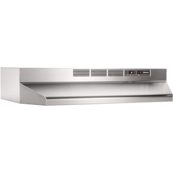 "Broan-NuTone 413604 36"" Non-Ducted/Ductless Under-Cabinet Range Hood Insert with Light, Stainless Steel"