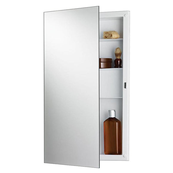 "Jensen 781053X Builder Series 16"" x 26"" Recessed Frameless Mirrored Medicine Cabinet"