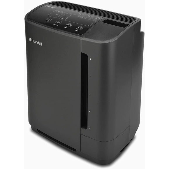 Brondell Revive PR50-B True HEPA Filtration Air Purifier and Humidifier, Black
