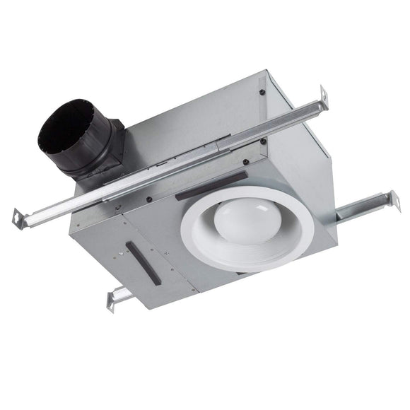 Broan NuTone Recessed 50-80 Selectable CFM Ventilation Fan with Light, 0.3-2 Sones